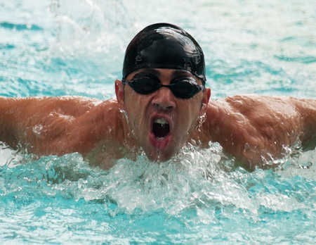 Male swimmer photo