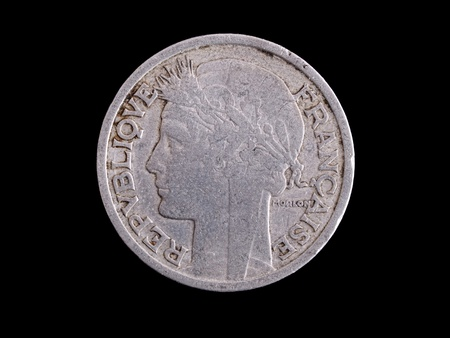 Vintage French franc Stock Photo - 8408177