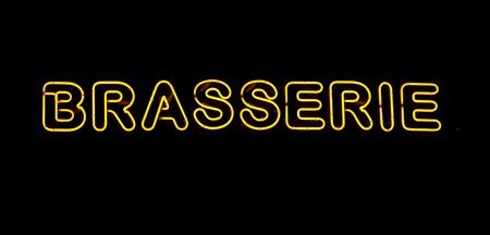brasserie: Neon brasserie sign