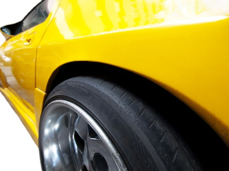 Yellow racing car Stock Photo - 8612185