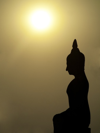 Buddha and sunset Stock Photo - 8954449