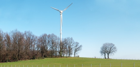 Countryside landscape with wind turbine Stock Photo - 9362323