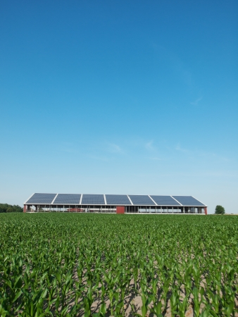 Farm and solar panel photo
