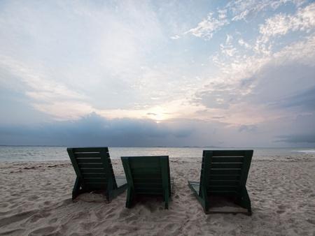 Serene beach scene Stock Photo - 10180603