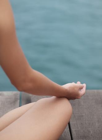 Sitting meditation photo