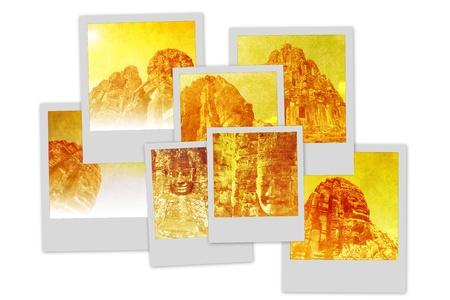 Temples of Angkor Polaroid pile Stock Photo - 13843800