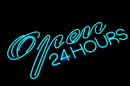 open bar restaurant neon sign photo