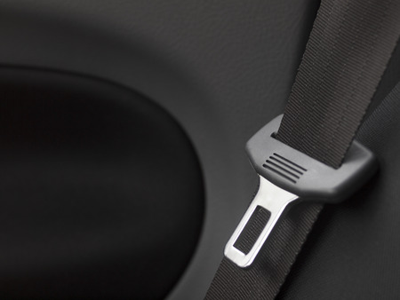 car detail: car interior detail with safety  belt