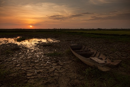 reap: Sunset in the countryside near Siem Reap Cambodia Stock Photo