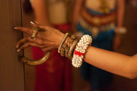 apsara: Close up of an Apsara dancer before a show Stock Photo