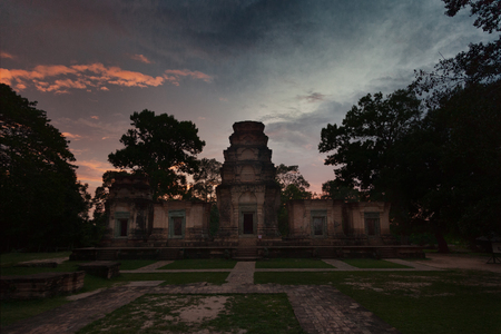 Prasat Kravan temple in Angkor at sunset