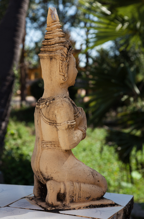 siem: Golden statue in a pagoda in siem reap cambodia