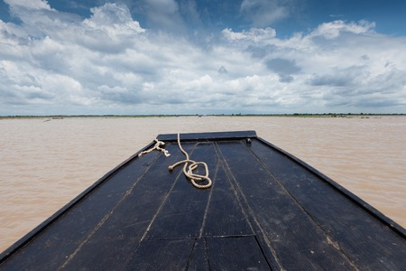 Boat journey on the Tonle Sap lake Cambodia