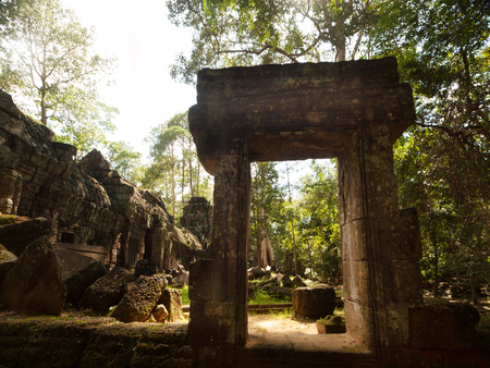 Remote temple in the jungle in Cambodia Stock Photo