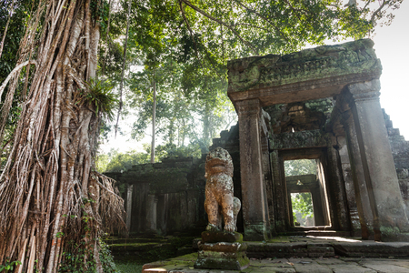One of the entrance of Preah Khan temple in Angkor Cambodia