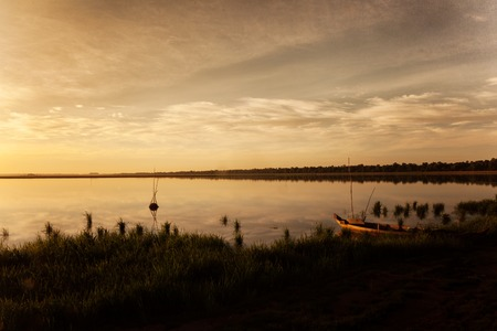 Beautiful landscape of West Baray at sunrise Stock Photo