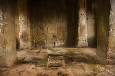 Inside Preah Khan temple in Angkor Cambodia