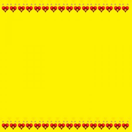 Yellow Heart Border Stock fotó