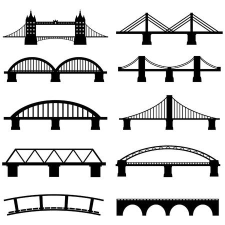 Bridge Icons Set Vector Vector