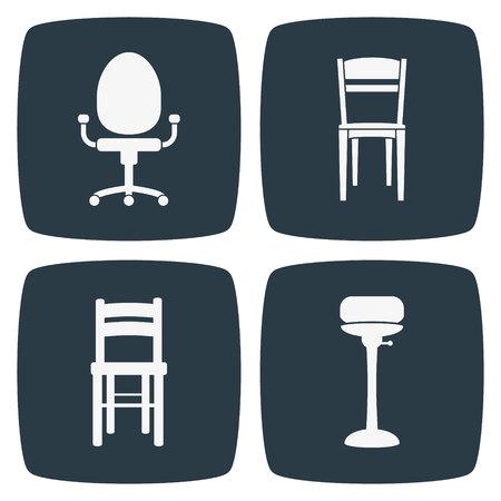 cadeira: Ícones cadeira Ilustração