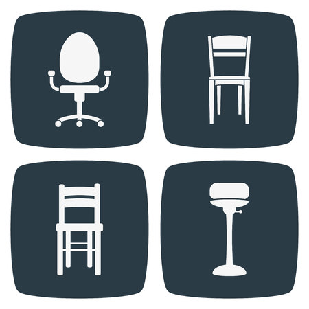 vector chair: Chair Icons Illustration