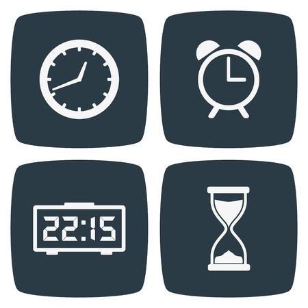 時計時間アイコン  イラスト・ベクター素材