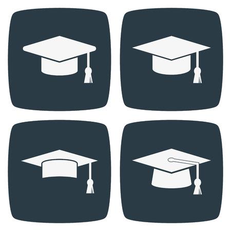 mortar board: Graduation Cap Icon