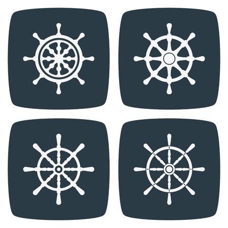 ruder: Rudder Icons Illustration