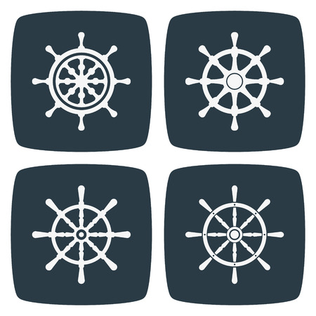 vector set: Rudder Icons Illustration