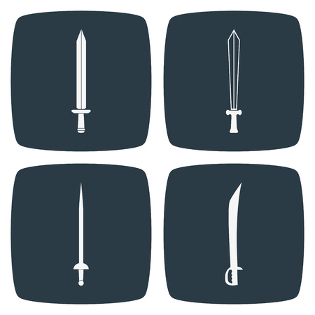sword fight: Sword Icons Illustration