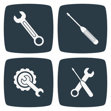rebuild: Tool Icons Wrench And Screwdriver
