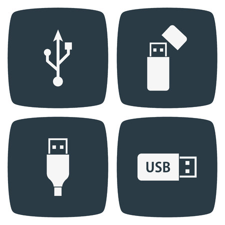 USB icons Illustration