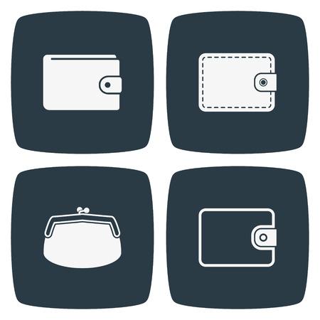 Iconos Wallet Ilustración de vector
