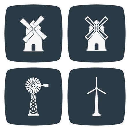 wind vane: Windmill Icons Illustration