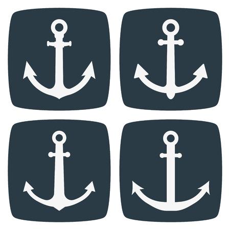 anchor: Anchor Icons Illustration