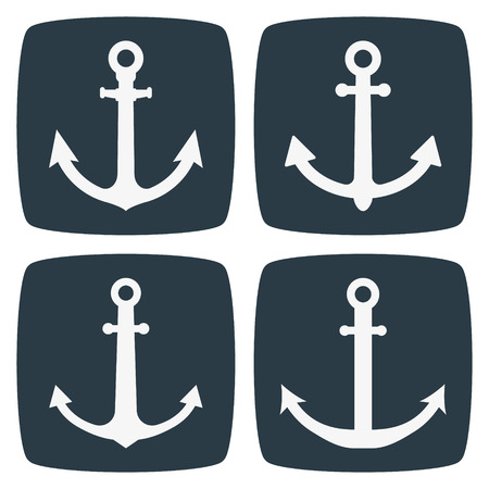 ancre marine: Ancrage Ic�nes Illustration