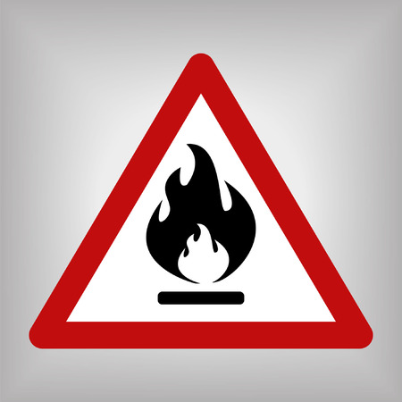 no nuclear: Fire Warning Sign