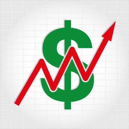 incremento: Dólar Aumentar Gráfico