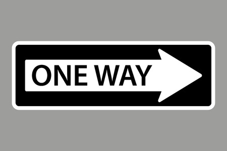 caution sign: One Way Sign