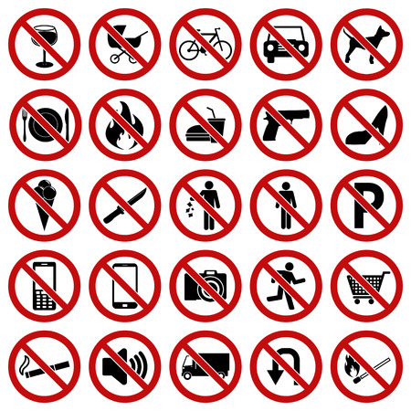 weapons: Prohibited Signs