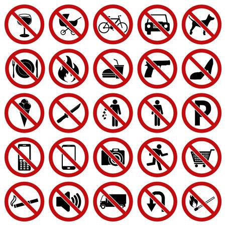 botar basura: Signos prohibidos