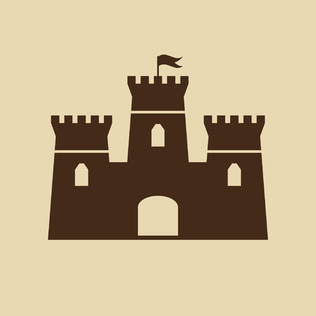 castle tower: Castle Icon Illustration