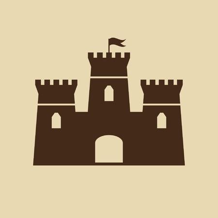 Castle Icon Illustration