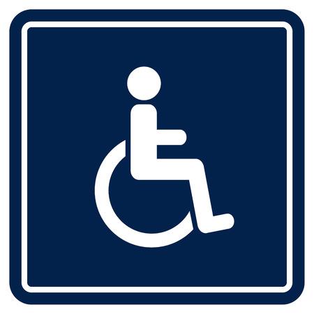장애인 핸디캡 아이콘 일러스트