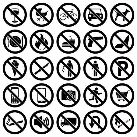 no symbol: Prohibited Signs
