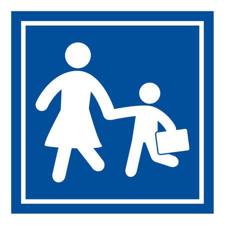 niños caminando: Inicio de sesión de escuela