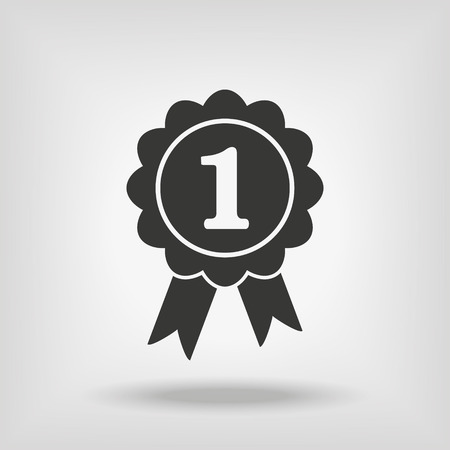 first place: First Place RIbbon Icon Illustration