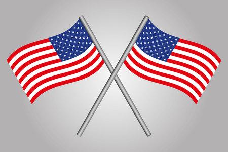 banderas america: EE.UU. Bandera cruzados