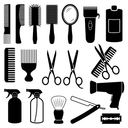 scissors comb: Hairdresser Icons