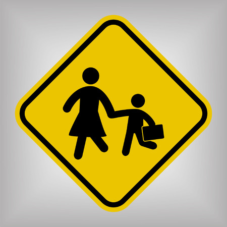 crossing street: School Sign